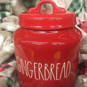 Rae Dunn red GingerBread canister